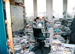 bureau surchargé
